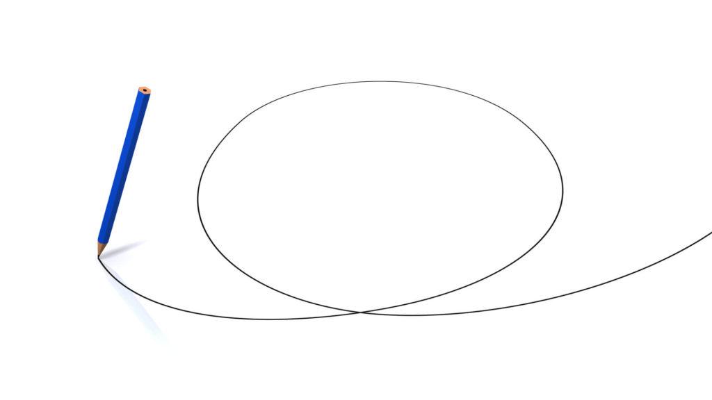 点と点ではなく、線もしくは面で考えている