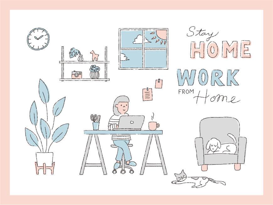 「在宅派遣」の勤務形態